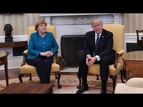 No Handshake at Trump-Merkel Photo-Op