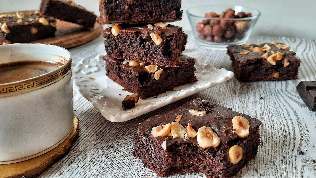 ma meilleure recette de brownies moelleux au chocolat براونيز ساهلة و بنينة