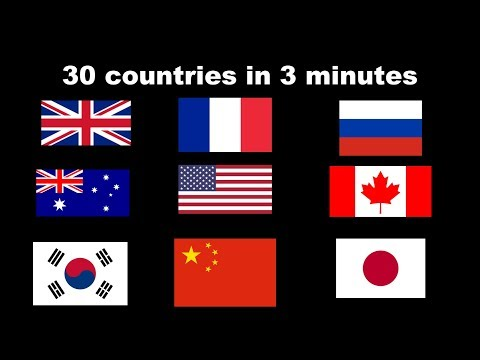 30 countries described in 1 sentence