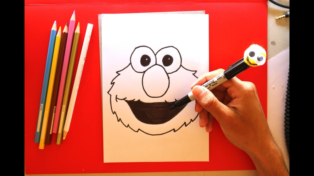 How To Draw Elmo Easy Drawings Step By Step
