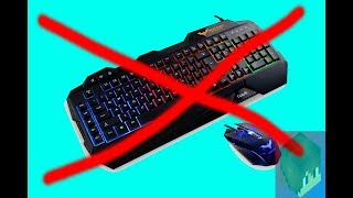 Minecraft without keyboard and mouse!!!