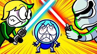 BEST LIGHTSABER FIGHT EVER | Pencilanimation Short Animated Film | The Incredible Max and Puppy dog