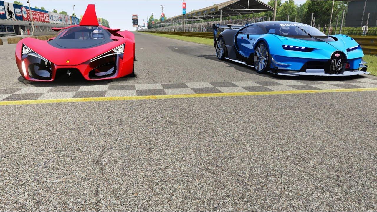 Bugatti Vision Gt Vs Ferrari F80 Concept At Monza Full Course Youtube