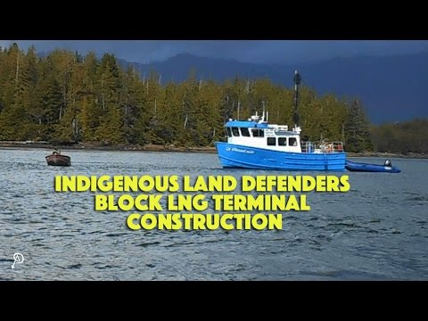 Indigenous land defenders block LNG terminal construction
