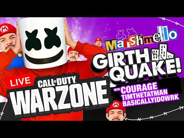 🔴COD Warzone GIRTHQUAKE w/ CourageJD/TimTheTatman/BasicallyIDoWrk — Mello Gaming