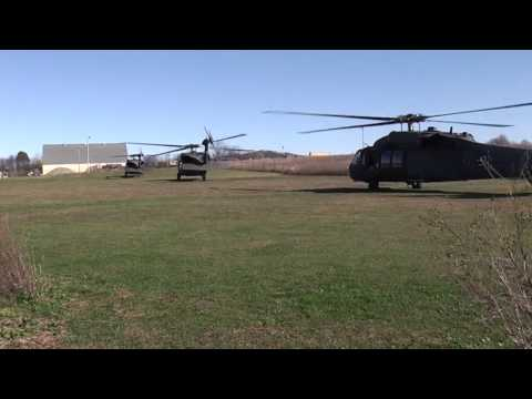 4 black hawks landing at our RC field