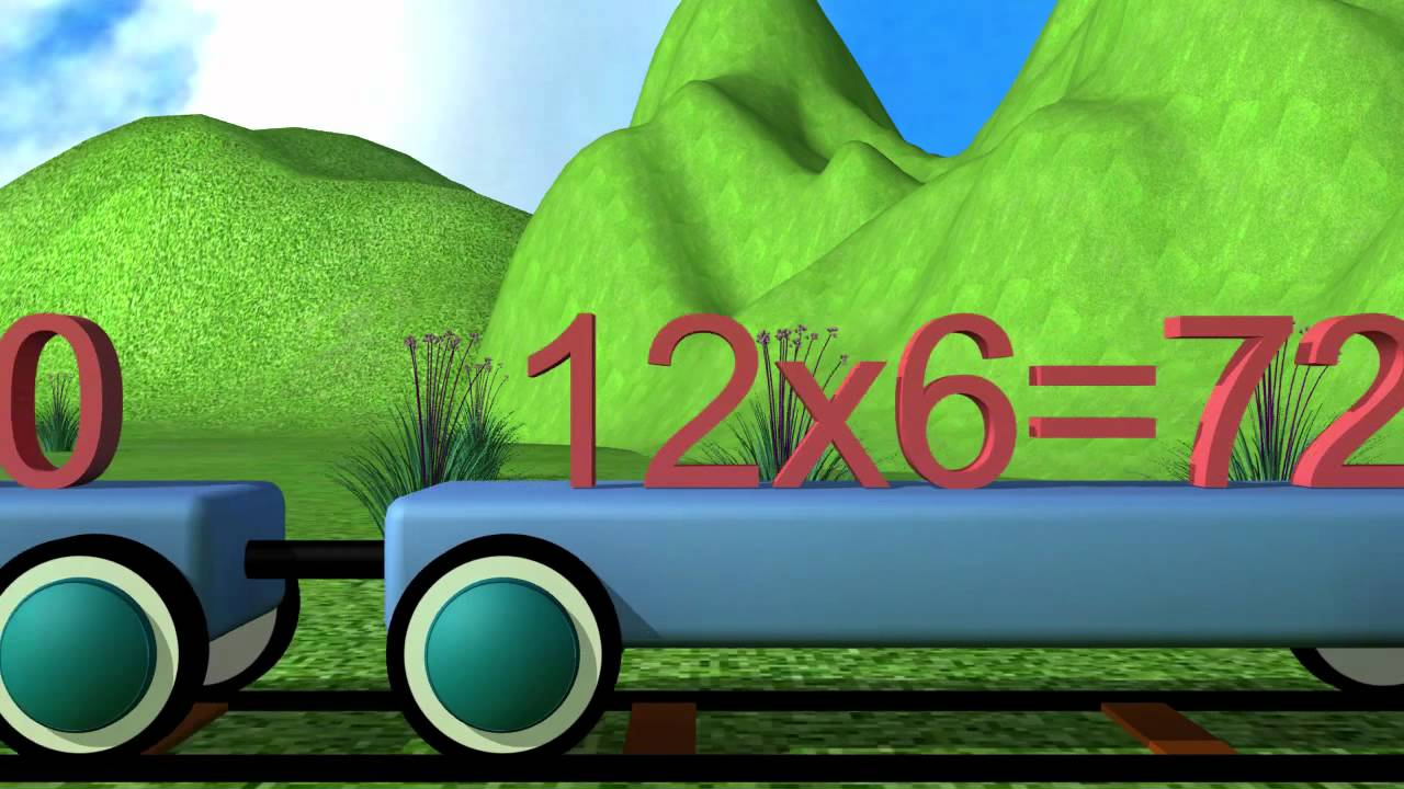 Learn multiplication table number 12 youtube for 12 times table song youtube