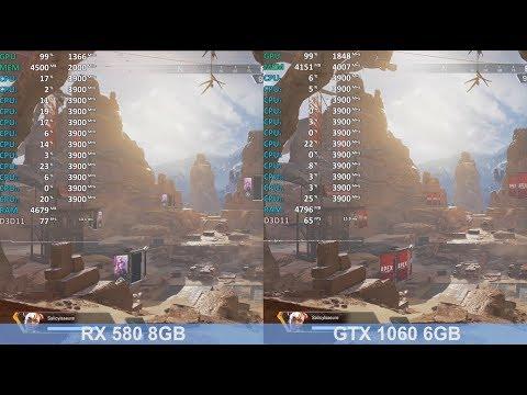 Apex Legends Radeon RX 580 vs GeForce GTX 1060 - Gameplay Benchmark