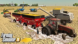 EVERYTHING STUCK! FALL HARVEST IN THE MUD (IOWA SERIES) FARMING SIMULATOR 19