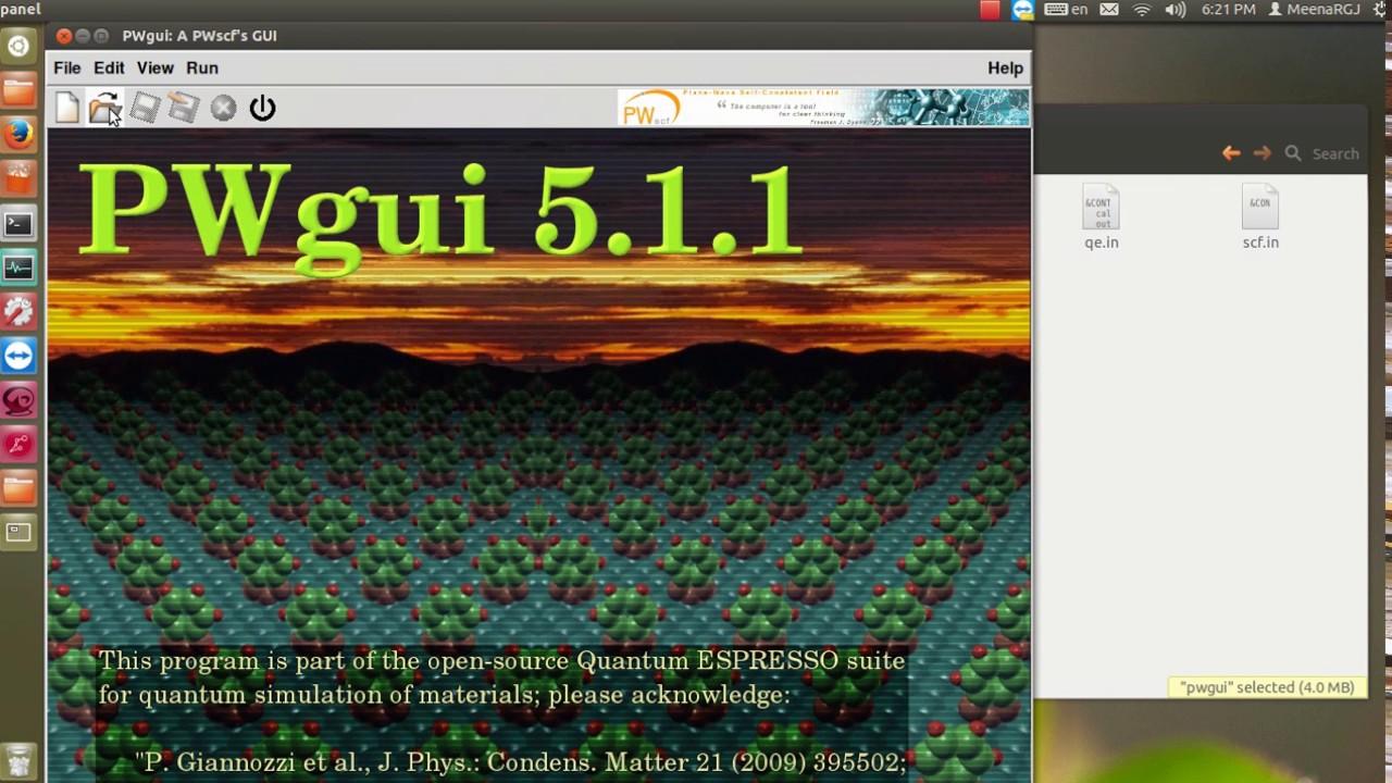 Calculation scf via Quantum ESPRESSO + PWGUI + VNL Thai version