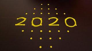 Easy Happy New Year 2020 Rangoli Easy Dots Rangoli For New Year 2020 New Year Muggu 2020 Kolam