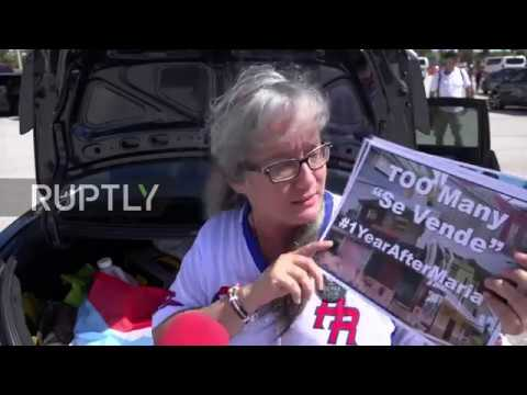 USA: Activists hold demo for hurricane-hit Puerto Rico at Mar-a-Lago