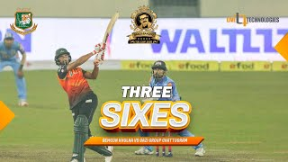 Mahmudullah Riyad's 3 SIXES in three balls against Shoriful | Gemcon Khulna vs Gazi Group Chattogram