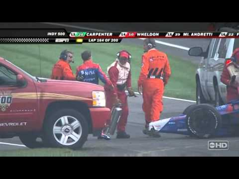 Marco Andretti 2007 Indy 500 Flip (in HD!)