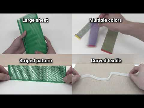 3D Printed Fabric: Techniques For Design And 3D Weaving Programmable Textiles