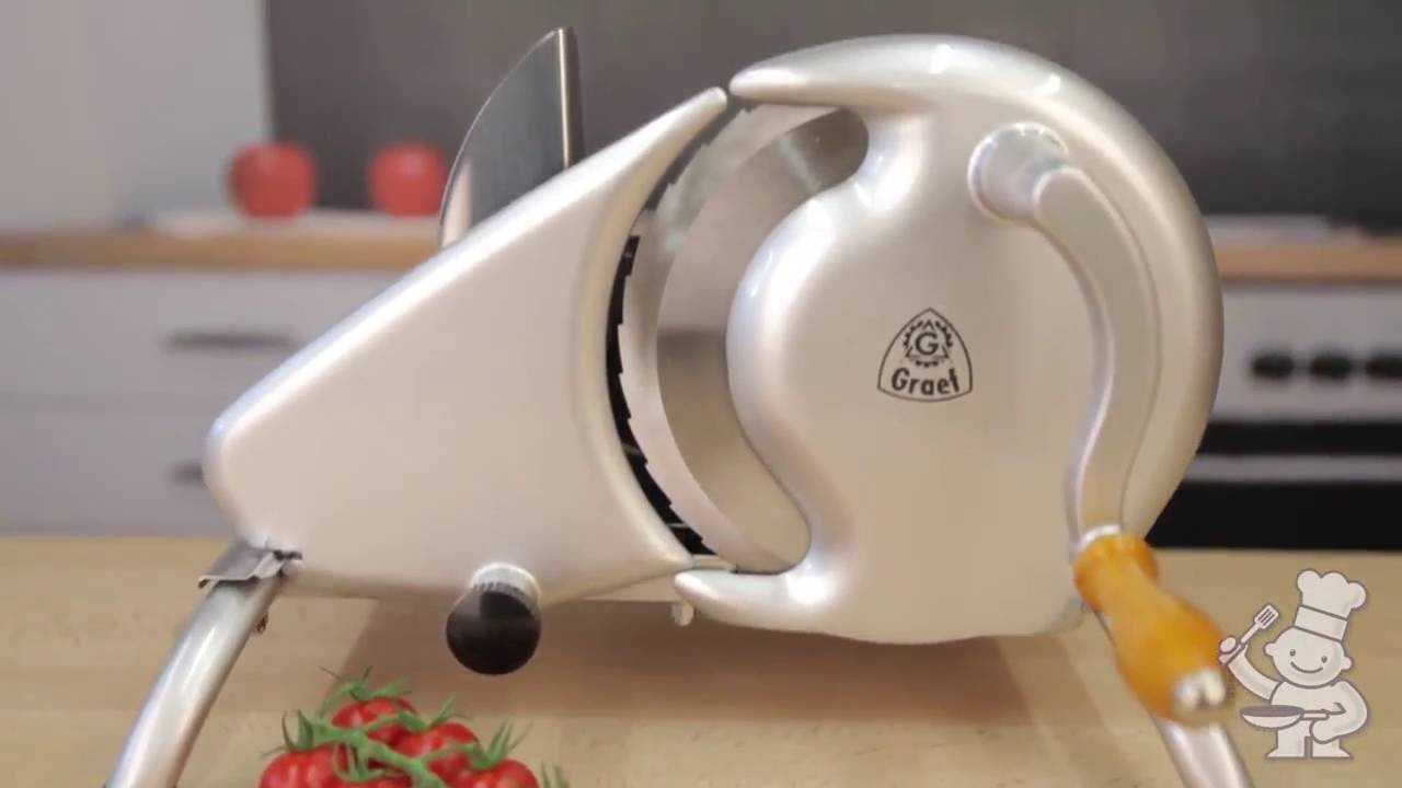 Graef The H9 is a manually operated slicer in retro design - YouTube