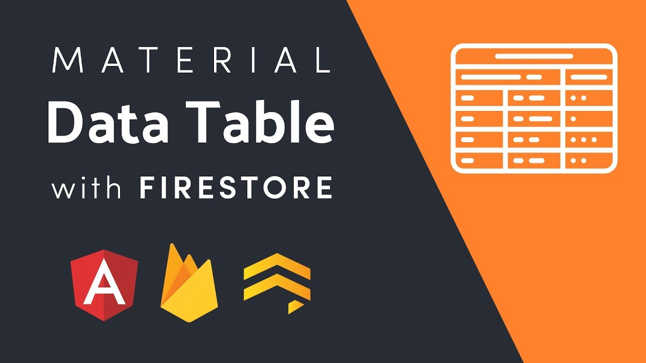 Material Data Tables With Firestore | AngularFirebase