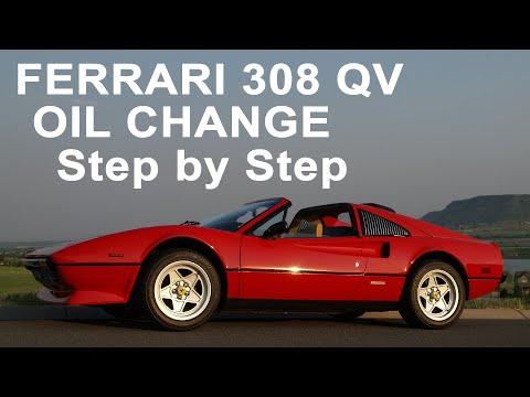 Ferrari 308 Oil Change (GTS QV Euro) – How To DIY