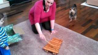 Izzy's first xylophone (a gift from Kinderling Wood) Part 1