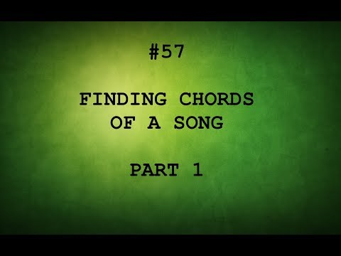 TAMIL GUITAR LESSONS #57-FINDING CHORDS OF A SONG P-1