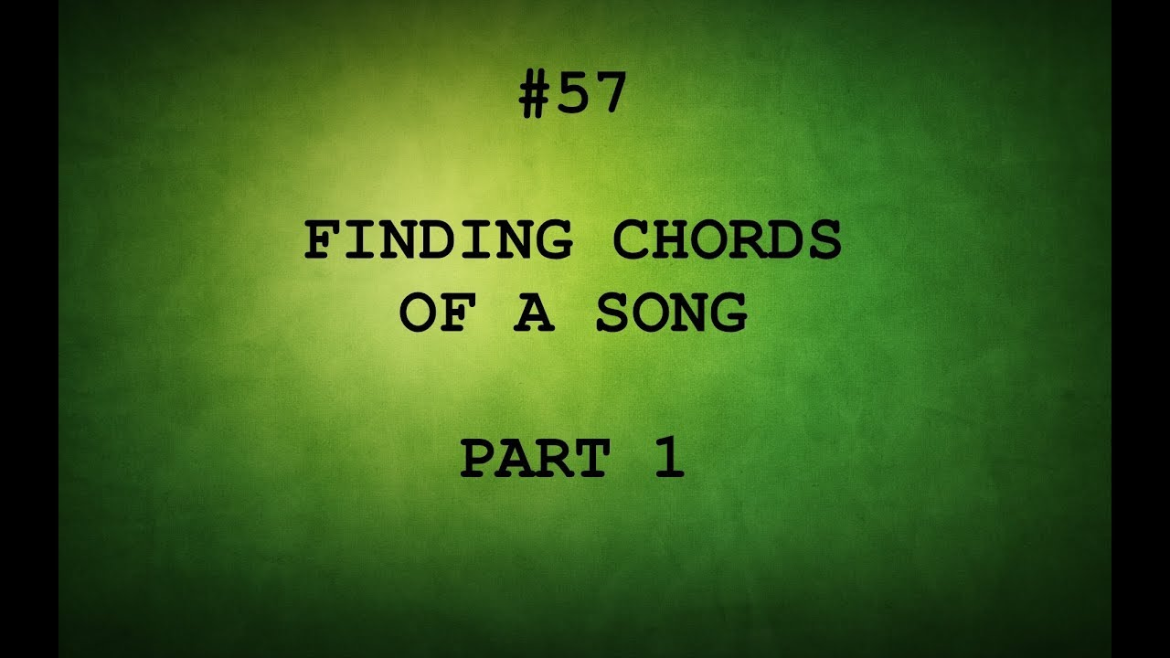 Tamil Guitar Lessons 57 How To Find Chords Of A Song Youtube