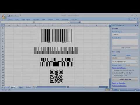 how to create barcode in excel 2007
