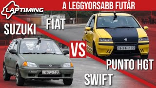 A leggyorsabb futár - Suzuki Swift vs. Fiat Punto HGT (Laptiming ep.152)