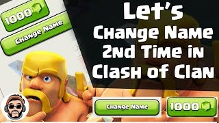 Clash of Clan Change Name 2nd Time | How To Change Name Again in Clash of Clans | WiseMGaming