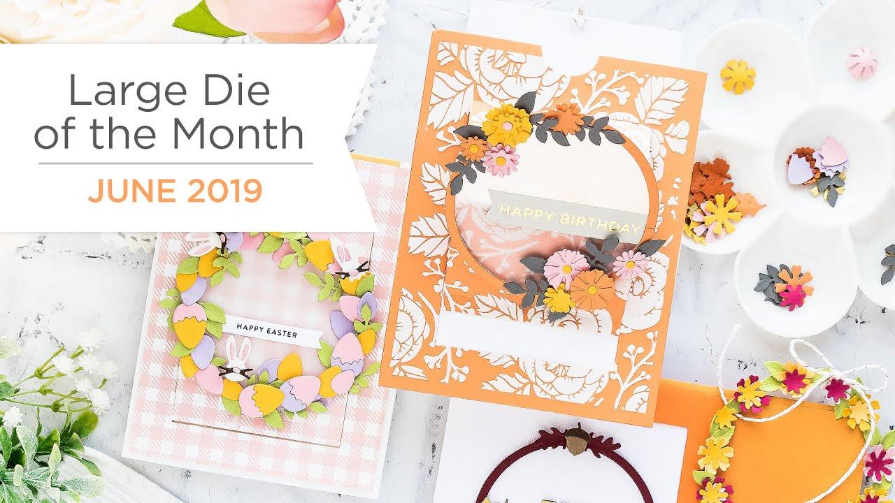 Spellbinders June 2019 Large Die of the Month – Festive Wreath Slider Card