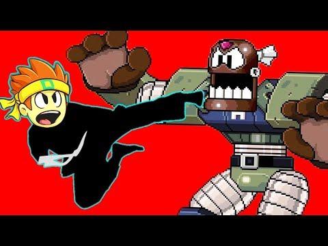 Симулятор Каратиста Dan the Man против огромного БОССА РОБОТА игры для детей на детском канале FGTV