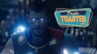 Thor ragnarok official comic con trailer reaction - double toasted review
