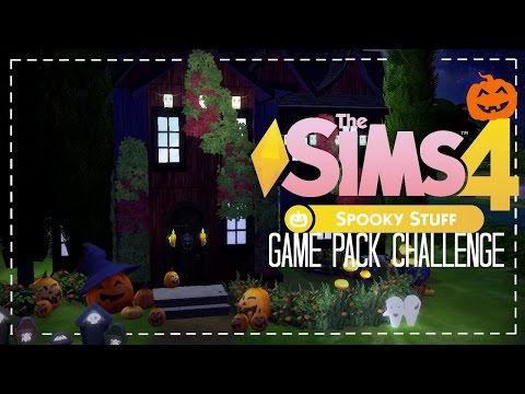 The Sims 4: Game Pack Challenge | SPOOKY STUFF PACK BUILD #1 |
