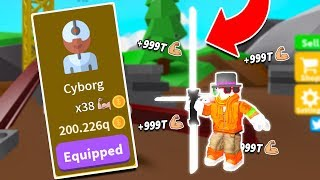I bought the $200,000,000,000,000,000 CYBORG CLASS in SABER SIMULATOR! (Roblox)