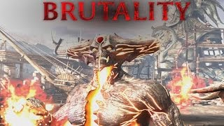 Mortal Kombat X - Corrupted Shinnok - Brutalities, Fatality, X Ray and Victory Pose (1080p 60FPS)