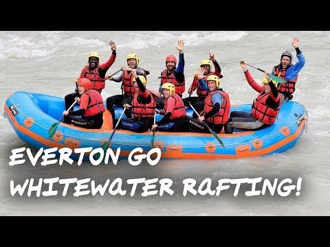 EVERTON GO WHITEWATER RAFTING! | TEAM BONDING IN SWITZERLAND