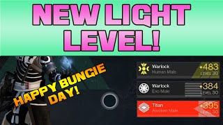DESTINY - NEW LIGHT LEVELS! HAPPY BUNGIE DAY!