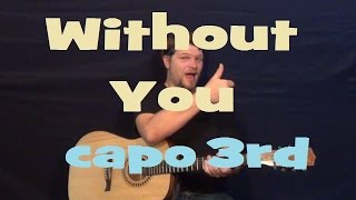 Without You (AJ Rafael) Easy Strum Guitar Lesson Chord How to Play Without You Tutorial