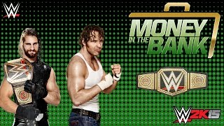 WWE 2K15 Money In The Bank 2015 Seth Rollins vs Dean Ambrose - Ladder Match Gameplay Pc