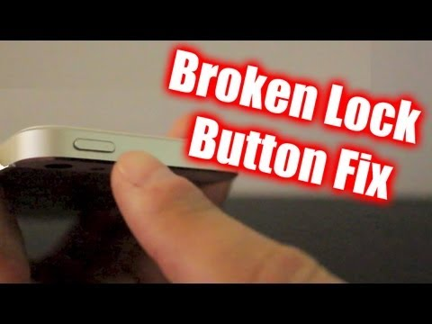 How To Fix Broken iPhone Lock Button - Works With iPad/iPod Touch