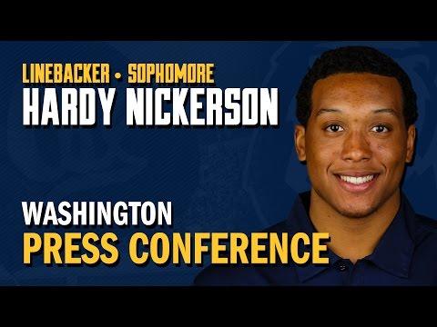 Cal Football: Hardy Nickerson - Washington Post Game (10/11/14)