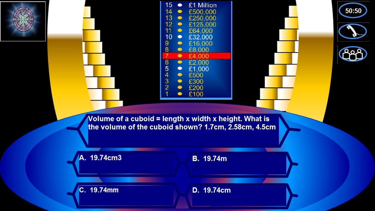 Create who wants to be a millionaire in powerpoint using for Who wants to be a millionaire blank template powerpoint