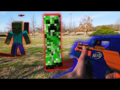 Nerf War: Nerf Meets Minecraft First Person Shooter