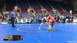 159 Champ. Round 2 - Megan Lloyd (Texas) vs. Ophelia Lara (California)