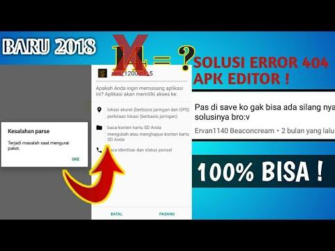 Cara Mengatasi Kesalahan Parse Apk Editor Error Youtube