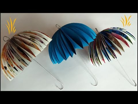 How to make a paper umbrella || DIY paper crafts for kids room Decoration || Easy tutorial