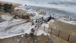 Hurricane Florence: Storm surge swallows Avon NC beach