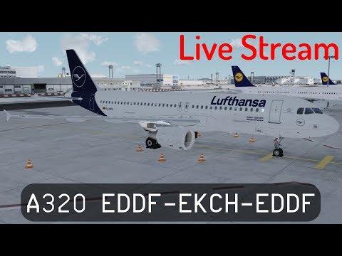 P3D V4.2 - Lufthansa's New Livery - A320-200 - Frankfurt to Copenhagen and back (EDDF-EKCH-EDDF)