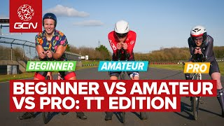 Beginner VS Amateur VS Pro Cyclist | Time Trial Edition