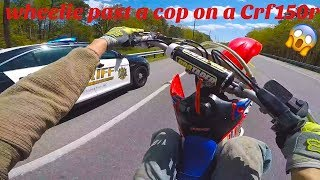 COP TRIED TO HIT ME OFF MY DIRTBIKE!!