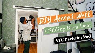 DIY Accent Wall Transformation + Sliding Barn Door (NYC Apartment)